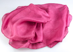 Buy a cochineal dyed silk scarf > cochineal dye.com